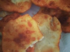 First attempt at Indian Fry Bread was pretty good. Small grease burn, but they tasted good.  One thing I do miss about AZ.