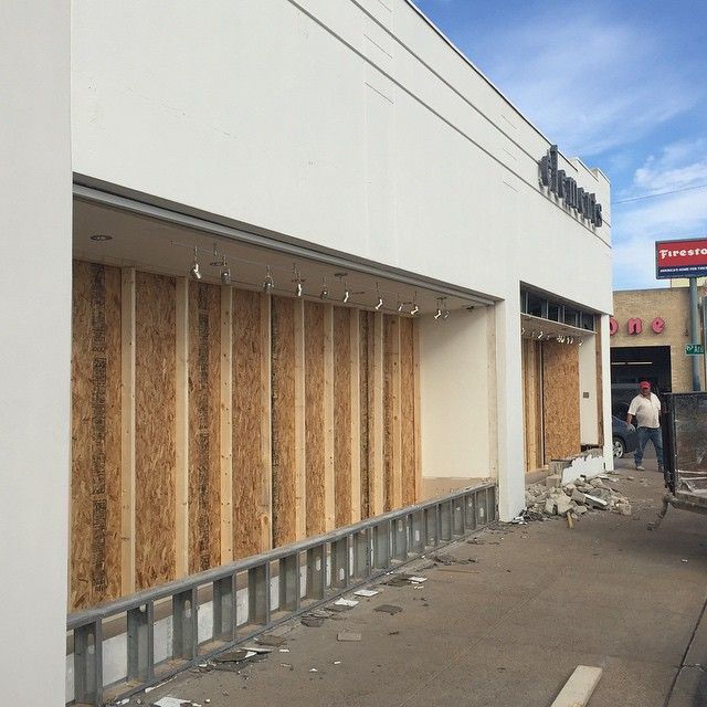 Looks like a new storefront is on the horizon.